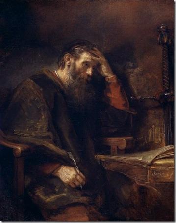 The Apostle Paul, c. 1657, Rembrandt van Rijn
