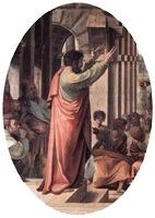 Paul Preaching at Athens, 1515-16, Raphael, detail