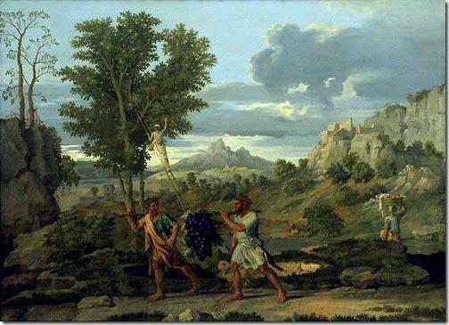 The Autumn (The Bunch of Grapes Taken from the Promised Land) / L'Automne (La Grappe de raisin rapportée de la Terre promise), 1660-64, Nicolas Poussin