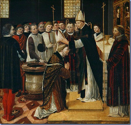 Ordination of St. Augustine, Ambrogio Borgognone