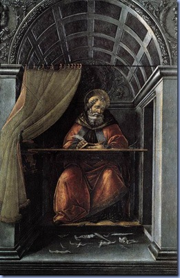 St Augustine in His Cell, by Sandro Botticelli