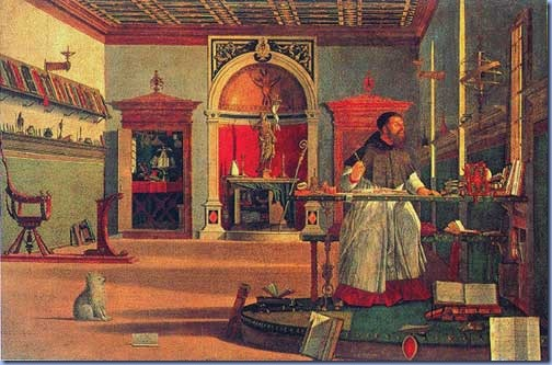 Life of St. Jerome: Vision of St. Augustine, Vittore Carpaccio