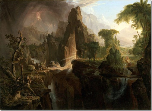 Expulsion from the Garden of Eden, 1828, Thomas Cole