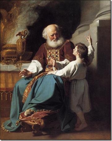 Samuel Reading to Eli the Judgments of God Upon Eli's House, 1780, John Singleton Copley