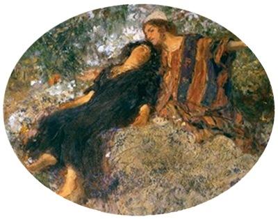 The Song of Songs (Il Cantico dei Cantici), ca. 1850-1901, Domenico Morelli, detail