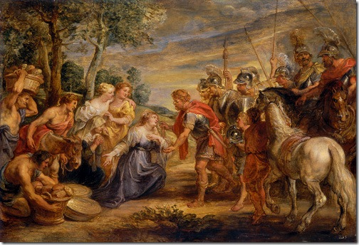 The Meeting of David and Abigail, c. 1630, Peter Paul Rubens