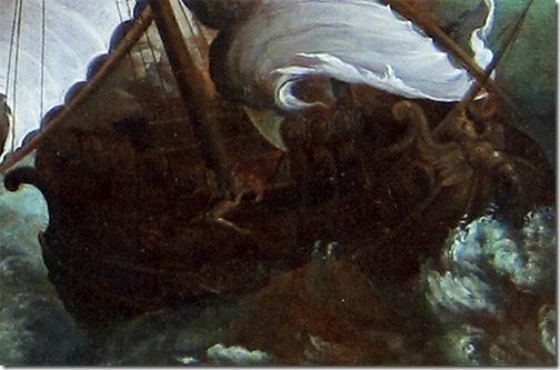 The Shipwreck of Jonah (Le naufrage de Jonas), detail, ca. 1600, Paul Bril