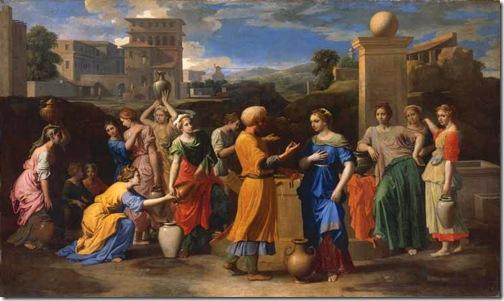 Eliezer and Rebecca at the Well (Eliézer et Rébecca), 1648, Nicolas Poussin