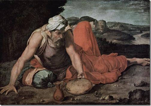 Prophet Elijah on Mount Horeb, c. 1550-1560, Daniele da Volterra