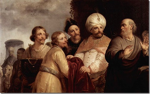Elisha refuses the gifts of Naaman (Elisa verweigert die Annahme der Geschenke Naemans), 1637, Pieter Fransz de Grebber