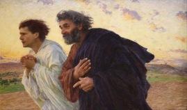 Pedro e João Correndo até o Sepulcro – Eugène Burnand