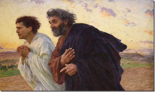 Peter and John Running to the Tomb, ca. 1898, Eugène Burnand
