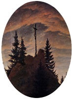 Cross in the Mountains (The Tetschen Altar), 1807-08, Gaspar David Friedrich, detail