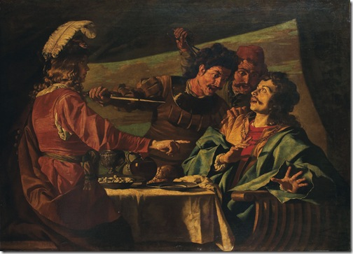 The feast of Absalom (Le festin d'Absalom), Matthias Stomer