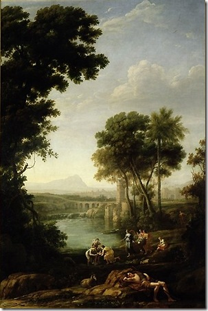 Landscape with the Finding Moses, 1639-40, Claude Lorrain