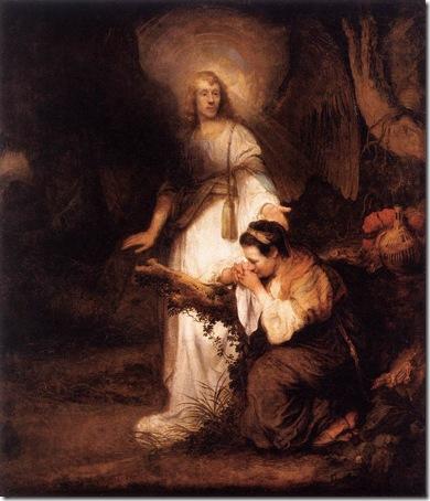 Hagar and the Angel, 1643-45, Carel Fabritius
