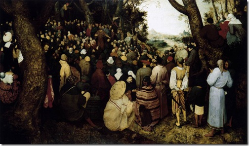 The Sermon of St John the Baptist (Saint John The Baptist Preaching to The Masses in The Wilderness / De Preek van Johannes de Doper), 1566, Pieter Bruegel the Elder