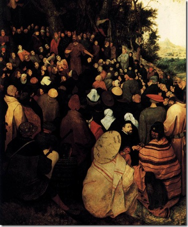 Detail: The Sermon of St John the Baptist (Saint John The Baptist Preaching to The Masses in The Wilderness / De Preek van Johannes de Doper), 1566, Pieter Bruegel the Elder