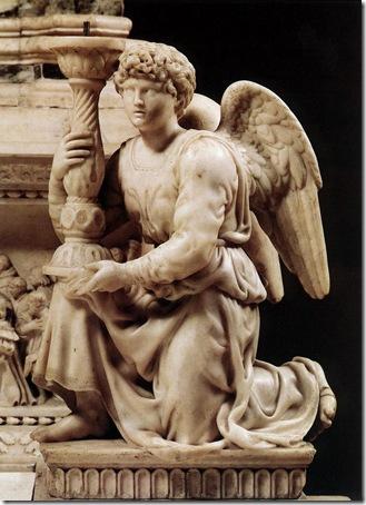 Angel with Candlestick 1494–1495, Michelangelo Buonarroti