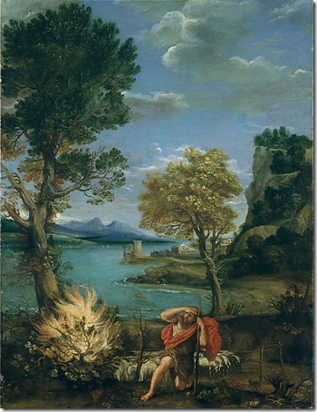 Landscape with Moses and the Burning Bush, 1610-16, Domenichino