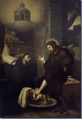 San Agustín lavando los pies a Cristo, Bartolomé Esteban Murillo