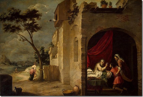 Isaac Blessing Jacob, c. 1660, Bartolomé Esteban Murillo