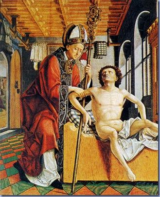 St. Augustine Freeing A Prisoner, Michael Pacher