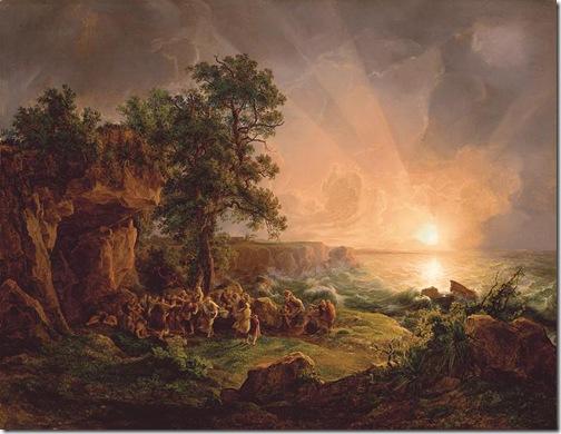 Saint Paul Shipwrecked on Malta, 1824, Károly Markó the Elder
