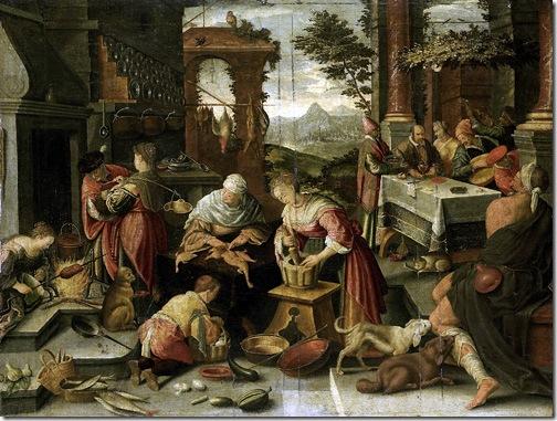 The rich man and Lazarus (De rijke man en de arme Lazarus), 1700, Jacopo Bassano