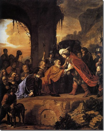Joseph Receives His Father and Brothers in Egypt, 1655, Salomon de Bray