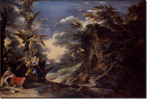 Landscape with Jacob's Dream, c. 1665, Salvator Rosa