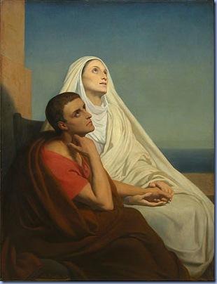 Saint Augustin et sa Mere Monique, Scheffer
