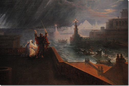 The Seventh Plague of Egypt, detail, 1823, John Martin
