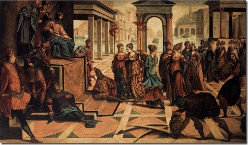 Solomon and the Queen of Sheba, c.1545, Tintoretto