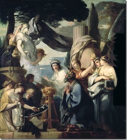 Solomon Sacrificing to Idols, c. 1646-1647, Sébastien Bourdon