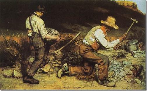 The Stone Breakers (Les Casseurs de pierres / Die Steinklopfer), 1849-50