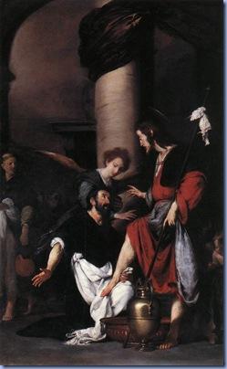 St Augustine Washing the Feet of Christ, Bernardo Strozzi