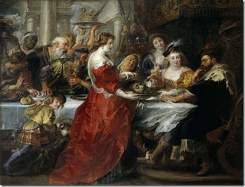 The Feast of Herod (Das Fest des Herododes), ca. 1635 – 1638, Peter Paul Rubens