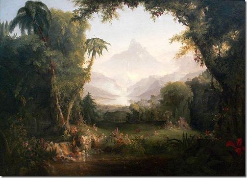 The Garden of Eden, 1828, Thomas Cole