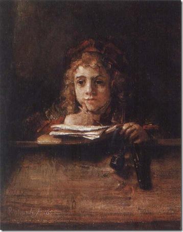 Titus at a Desk, 1655, Rembrandt van Rijn
