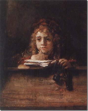 Titus at a Desk, 1655, Rembrandt van Rijn