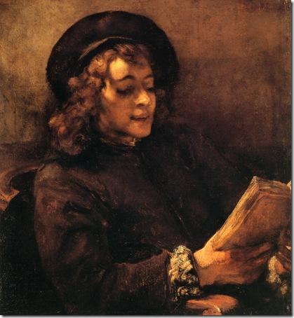 Titus Reading Aloud (Titus Lisant), c. 1656, Rembrandt van Rijn
