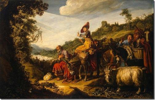 Abraham's Journey to Canaan, 1614, Pieter Lastman