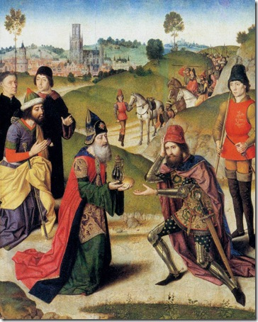 The Meeting of Abraham and Melchizedek, ca. 1465, Dieric Bouts the Elder