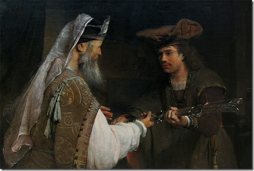 Ahimelech Giving the Sword of Goliath to David,1680s, Aert de Gelder