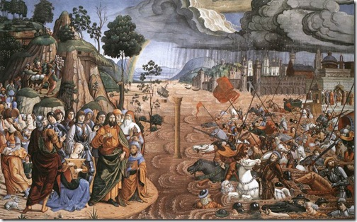 The Crossing of the Red Sea, 1481-82, Cosimo Rosselli
