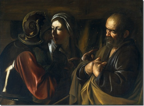 The Denial of Saint Peter, ca. 1610, Caravaggio