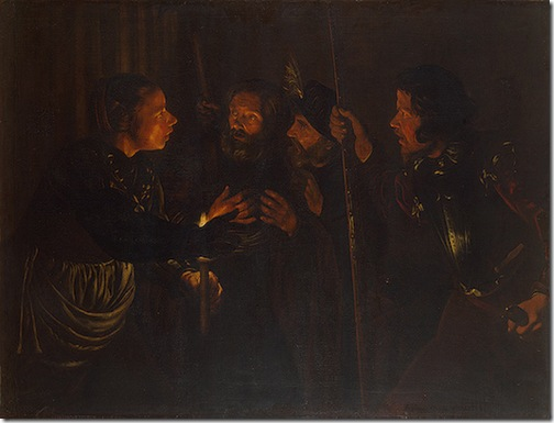 Denial of St. Peter, 1620s, Gérard Seghers