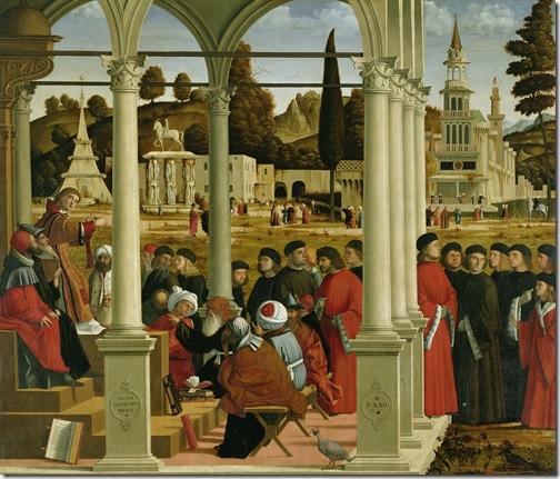 Disputation of St Stephen (Streitgespräch des Hl. Stephan / Disputa di Santo Stefano), 1514, Vittore Carpaccio