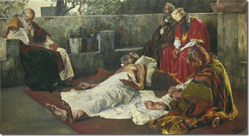 The Dying Job, 1901, Jehudo Epstein